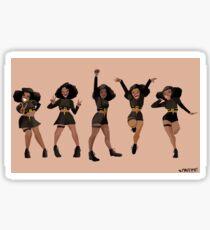 Black, Proud, & Carefree Sticker