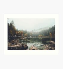 Lake serenity landscape photography Art Print