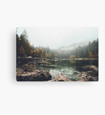 Lake serenity landscape photography Canvas Print