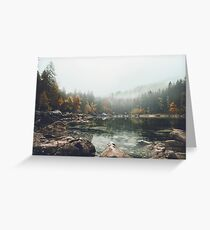 Lake serenity landscape photography Greeting Card