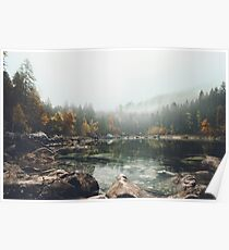 Lake serenity landscape photography Poster