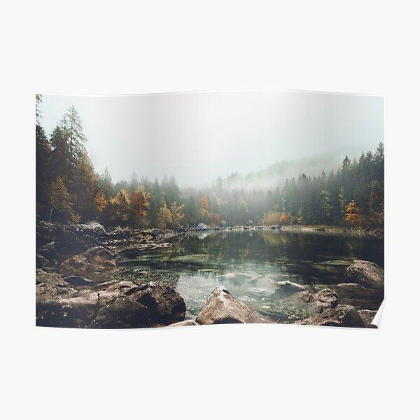 Lake serenity landscape photography Poster