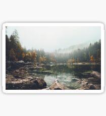 Lake serenity landscape photography Sticker