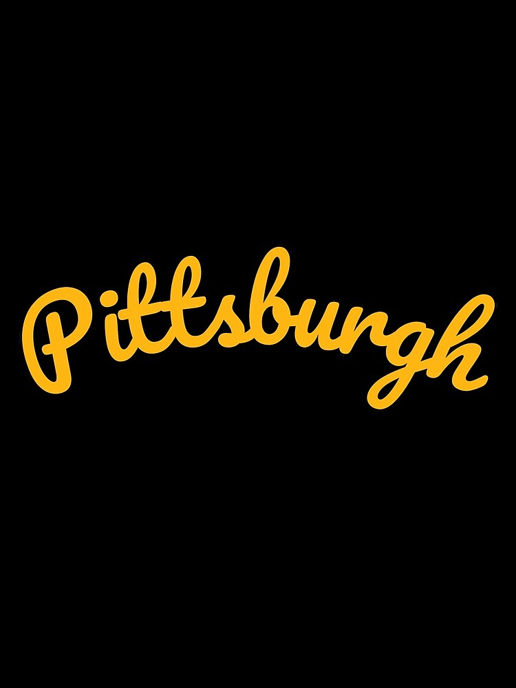 Pittsburgh Steel City 412 Pennsylvania Cursive Text by rbaaronmattie