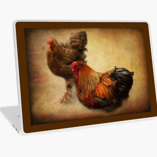 Rooster and hen Laptop Skin