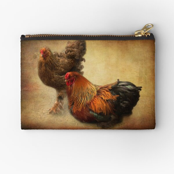 Rooster and hen Zipper Pouch