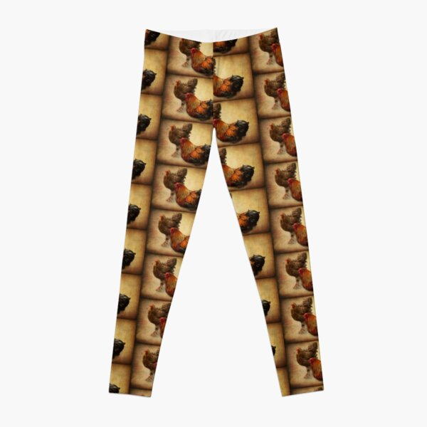 Rooster and hen Leggings