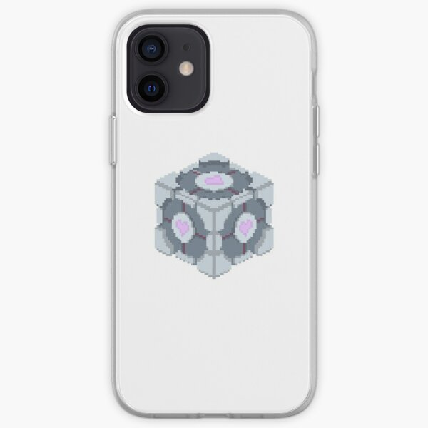 Companion Cube Portal 2 Merch iPhone Soft Case