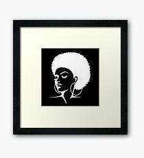 Black Female Pride  Framed Print