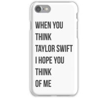 Taylor Swift cover iPhone Case/Skin