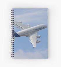 A380 Turns Spiral Notebook