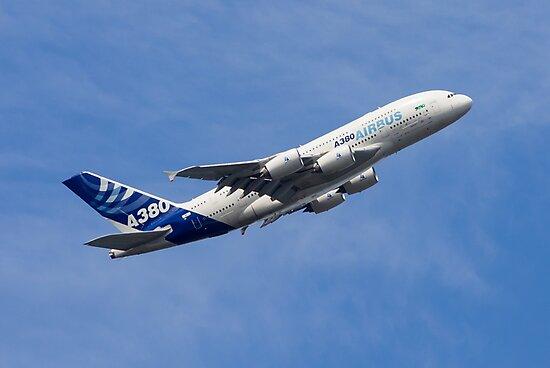 A380 Climbs by Jet Shots