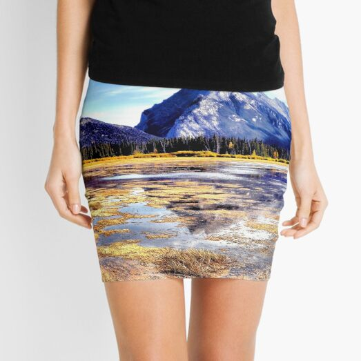 Mt Rundle - Banff, Alberta, Canada Mini Skirt