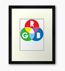 RGB Red Green Blue Colour Color Spectrum Framed Print