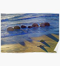Pythagoras at the Beach Poster