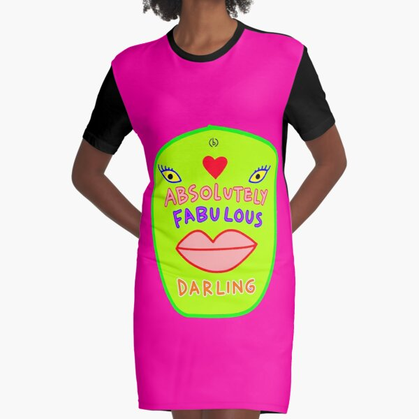 Absolutely fabulous darling green face Graphic T-Shirt Dress
