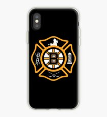 Boston Fire - Bruins style iPhone Case