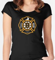Boston Fire - Bruins style Women's Fitted Scoop T-Shirt