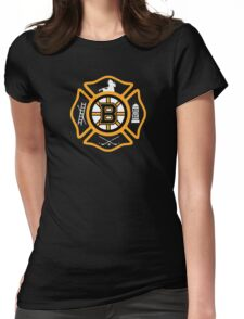 Boston Fire - Bruins style Womens Fitted T-Shirt