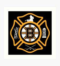 Boston Fire - Bruins style Art Print