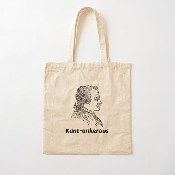 Immanuel Kant Cantankerous Kant-ankerous German Philosopher Cotton Tote Bag
