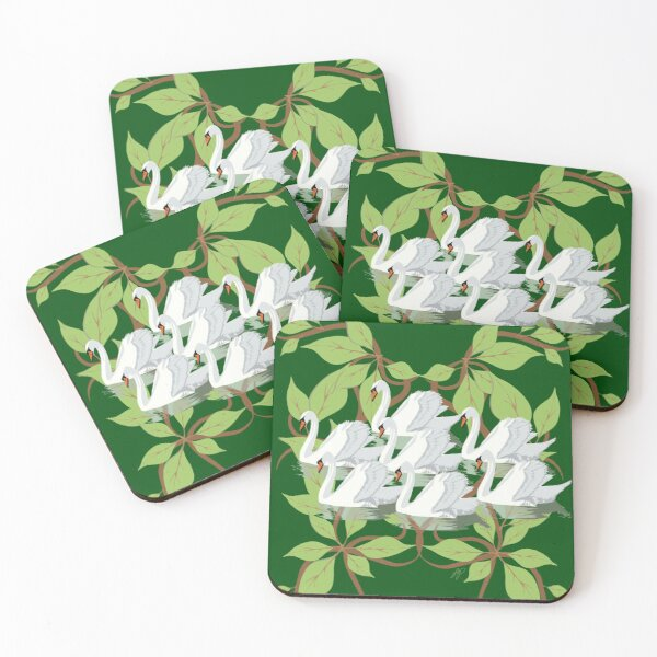 12 Days of Christmas: Seven Swans A Swimming Coasters (Set of 4)
