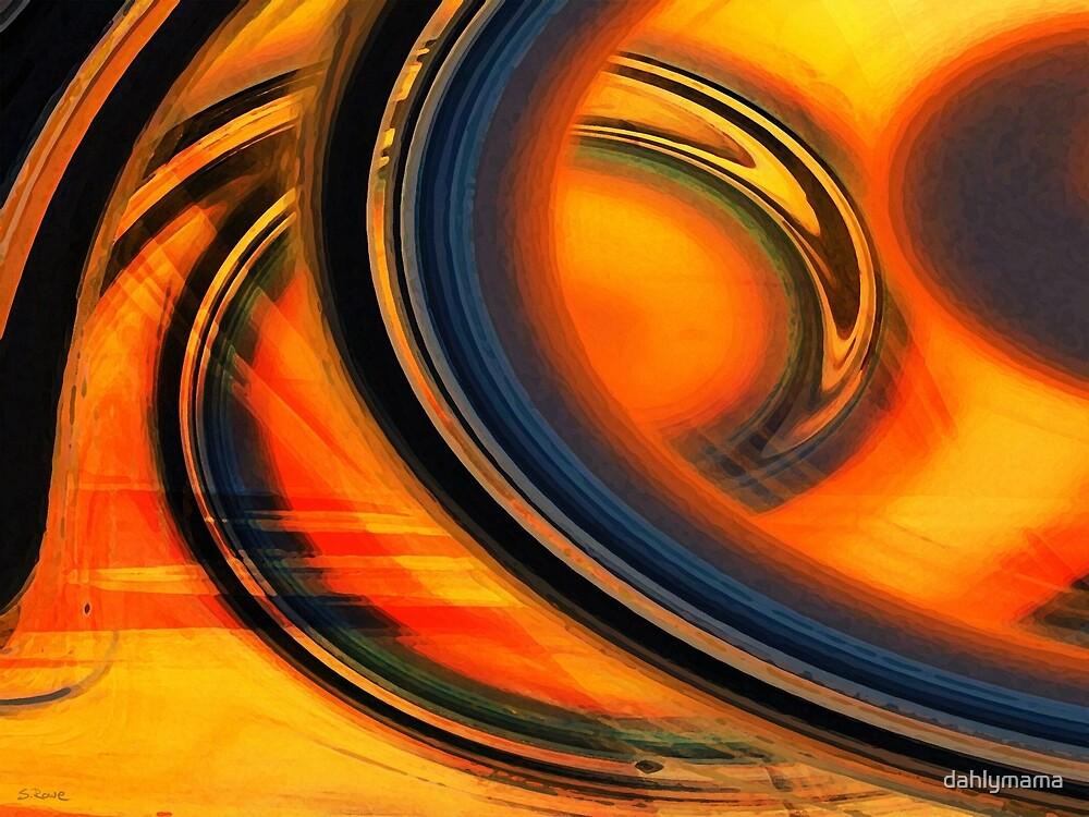 Fiery Celestial Rings  by Shawna Rowe