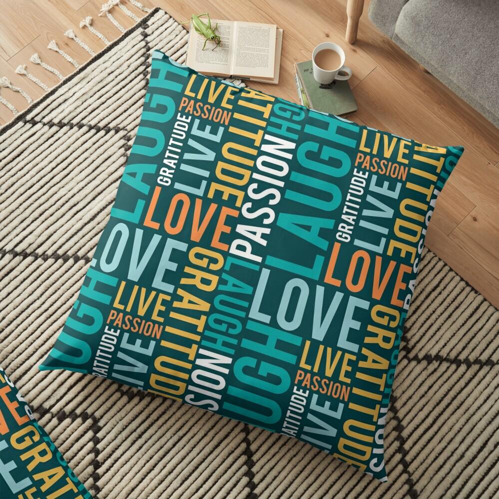 Live, Laugh, Love Floor Pillow