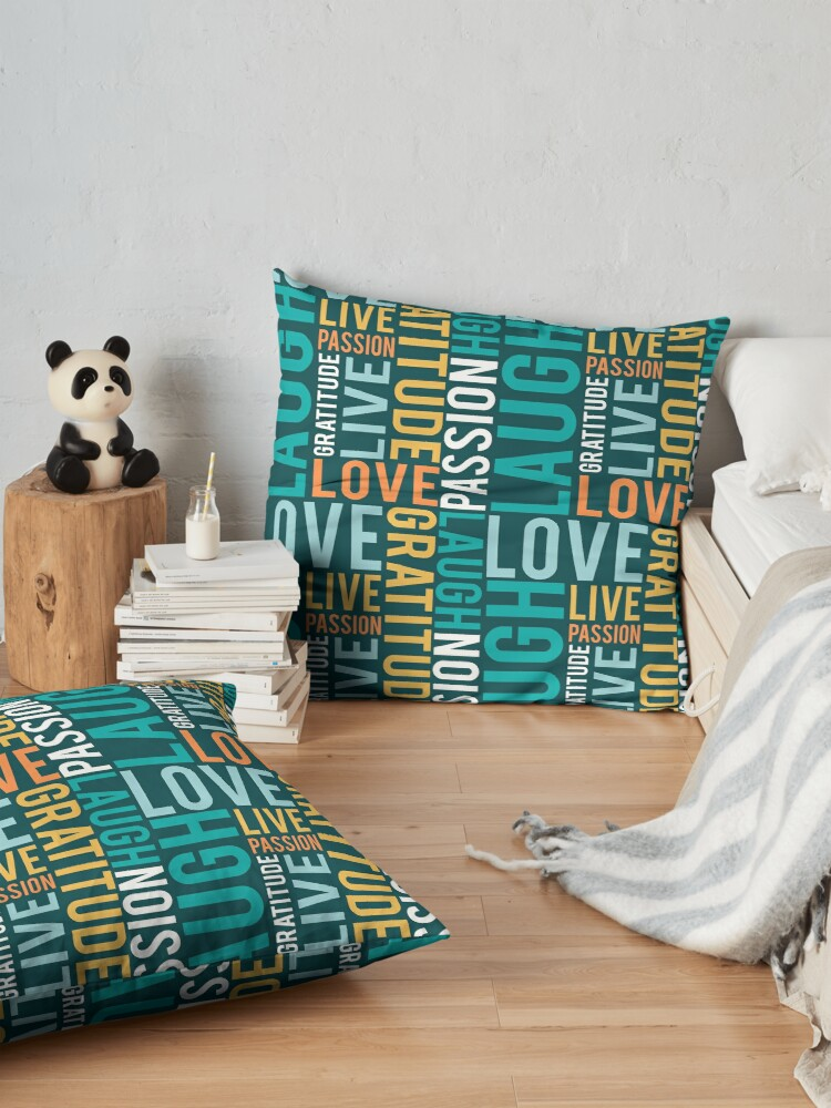 Alternate view of Live, Laugh, Love Floor Pillow
