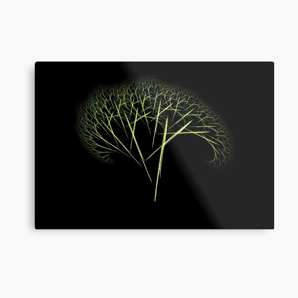 Fraktal-Tree Metal Print