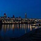 British Symbols and Landmarks - Millennium Bridge and Thames River at Low Tide by Georgia Mizuleva