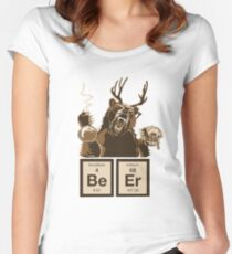 Chemistry bear discovered beer Women's Fitted Scoop T-Shirt