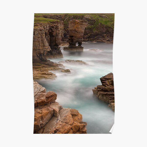 Yesnaby Castle  West Mainland Orkney Scotland. Poster