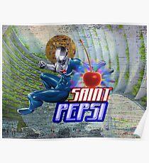 Saint Pepsi Vaporwave Ocean Paradise Poster