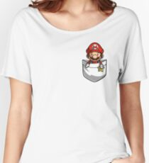 Pocket Mario  Women's Relaxed Fit T-Shirt