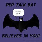 Pep Talk Bat by ladyrockbottom