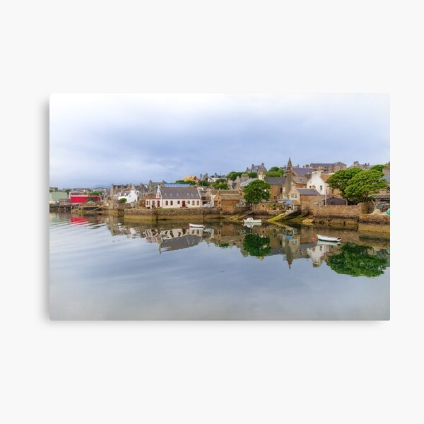 Stromness Reflections West Mainland Orkney Scotland. Canvas Print