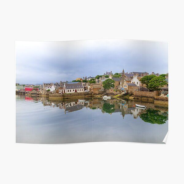 Stromness Reflections West Mainland Orkney Scotland. Poster