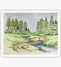 Hills landscape Sticker