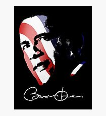 Barack Obama Signature Photographic Print