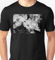 Dogwood Blossoms - Black and White T-Shirt
