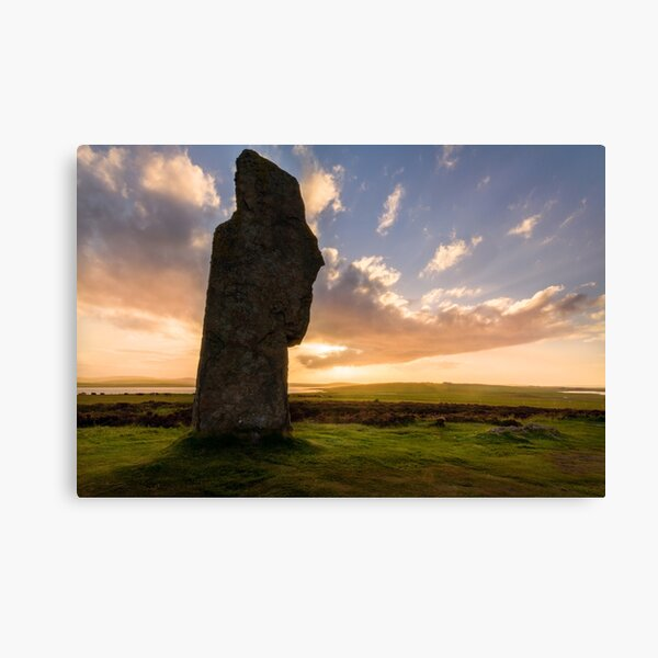 Ring Of Brodgar at Sunset Orkney Isles Scotland Canvas Print