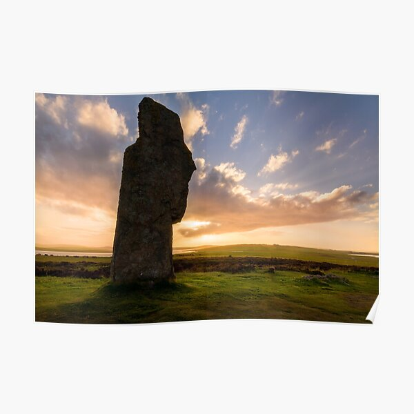 Ring Of Brodgar at Sunset Orkney Isles Scotland Poster