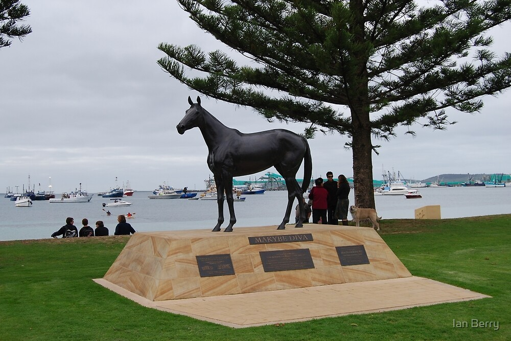 Makybe Diva - 3 times winner of the Melbourne Cup by Ian Berry