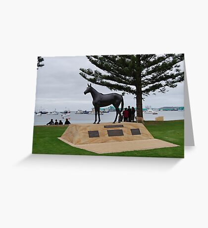 Makybe Diva - 3 times winner of the Melbourne Cup Greeting Card