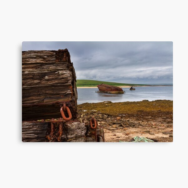 Scapa Flow Churchill Barriers Orkney Isles Scotland Canvas Print