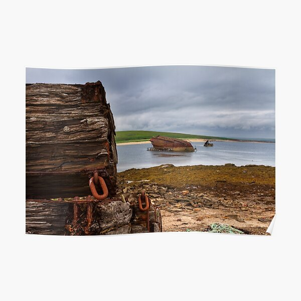 Scapa Flow Churchill Barriers Orkney Isles Scotland Poster