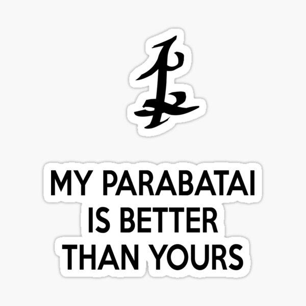 Mein Parabatai ist besser als deins (SCHWARZ) Sticker