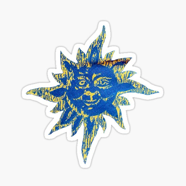 The Sun with a Face Sticker