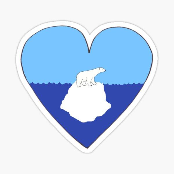 Eisbärenliebe Sticker